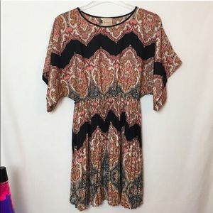 Anthropology boho pleated dress